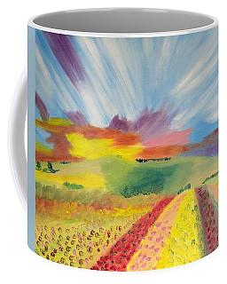 Rainbow Of Flowers Coffee Mug by Meryl Goudey