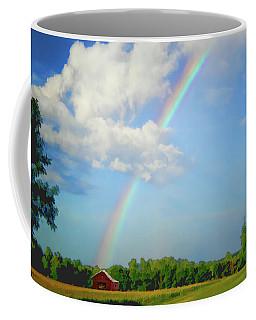 Rainbow On The Farm Coffee Mug