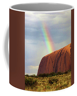 Rainbow On Uluru 2 Coffee Mug