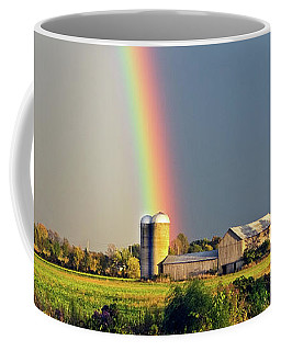 Rainbow Over Barn Silo Coffee Mug