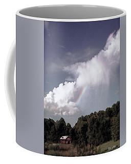 Rainbow Over Farm Coffee Mug by Bonnie Willis