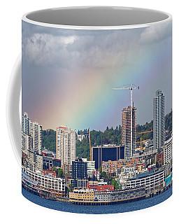 Rainbow Over Seattle Coffee Mug