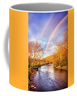 Coffee Mug featuring the photograph Rainbow Over The River II by Debra and Dave Vanderlaan