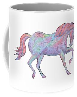 Rainbow Pony II Coffee Mug by Elizabeth Lock