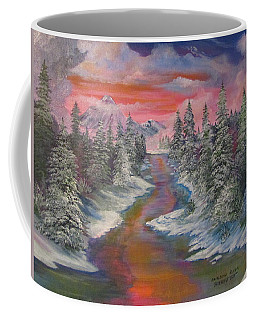 North Dakota And The Rainbow River Coffee Mug
