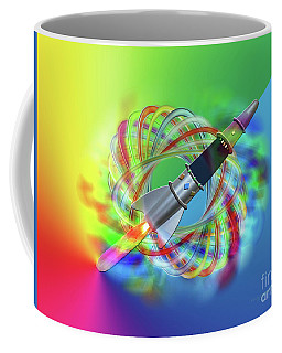Rainbow Rocket Orbits Coffee Mug