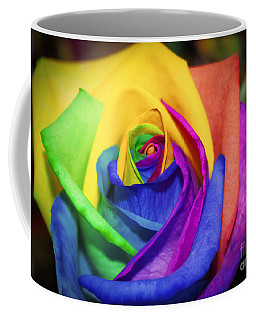 Rainbow Rose In Paint Coffee Mug