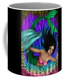 Rainbow Sea Mermaid - Fantasy Art Coffee Mug