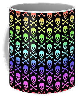 Rainbow Skull And Crossbones Coffee Mug