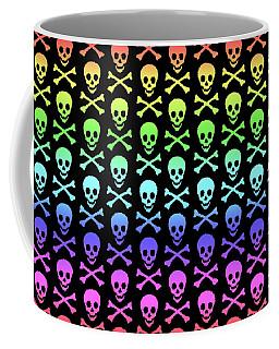 Rainbow Skull And Crossbones Coffee Mug