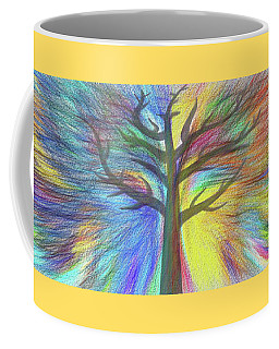 Coffee Mug featuring the digital art Rainbow Tree By Kaye Menner by Kaye Menner