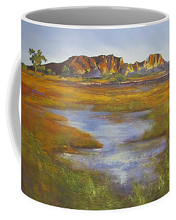 Coffee Mug featuring the painting Rainbow Valley Northern Territory Australia by Chris Hobel