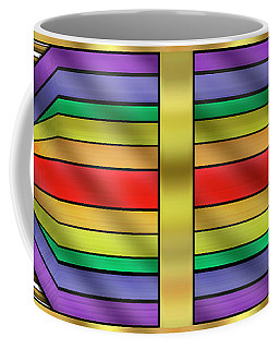 Coffee Mug featuring the digital art Rainbow Wall Hanging Horizontal by Chuck Staley