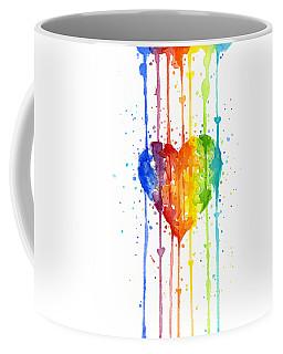 Rainbow Watercolor Heart Coffee Mug