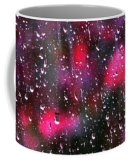 Raindrops At My Window Coffee Mug by Angela Davies