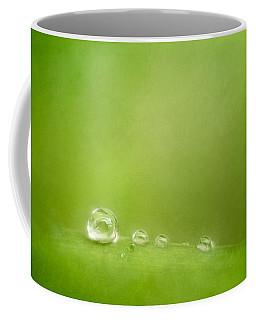 Raindrops On Green Coffee Mug