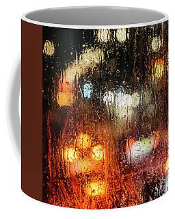 Raindrops On Street Window Coffee Mug