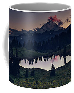 Coffee Mug featuring the photograph Rainier Color by Gene Garnace