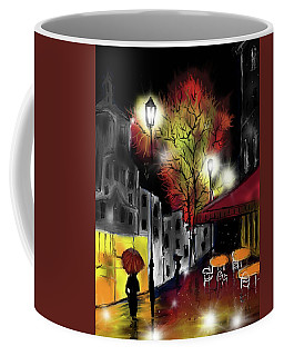 Coffee Mug featuring the digital art Raining And Color by Darren Cannell