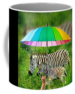 Raining Zebras Coffee Mug