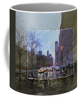 Rainy City Street Layered Coffee Mug