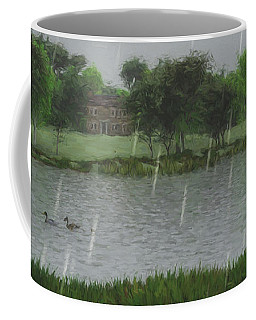 Rainy Day At The Lake Coffee Mug