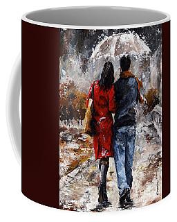 Rainy Day - Walking In The Rain Coffee Mug