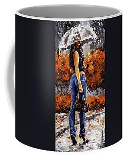 Rainy Day - Woman Of New York 14 Coffee Mug