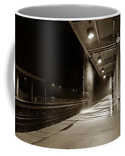 Coffee Mug featuring the photograph Rainy Night In Baltimore by Ron Cline
