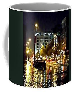 Rainy Night In Green Bay Coffee Mug