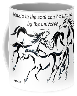Coffee Mug featuring the painting Rambunctious With Lao Tzu Quote I by Bill Searle