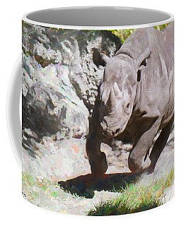 Coffee Mug featuring the painting Rampage by Judy Kay