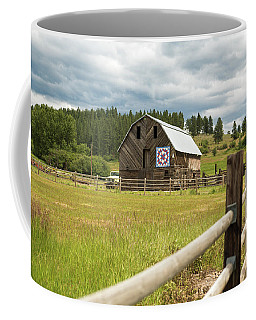 Ranch Fence And Barn With Hex Sign Coffee Mug