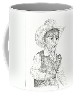 Coffee Mug featuring the drawing Ranch Hand by Mayhem Mediums