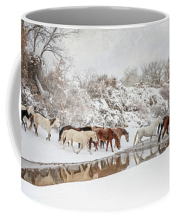 Ranch Horse Winter Coffee Mug
