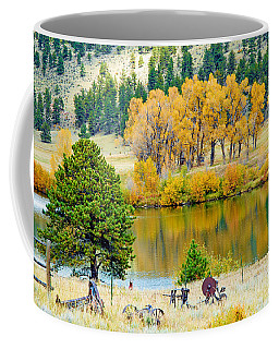 Ranch Pond In Autumn Coffee Mug