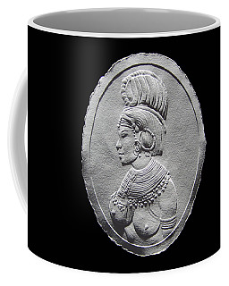 Randille Tribe Woman Relief Drawing Coffee Mug by Suhas Tavkar