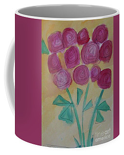 Coffee Mug featuring the painting Randi's Roses by Kim Nelson