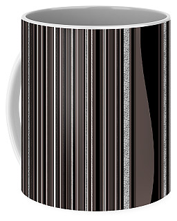 Coffee Mug featuring the digital art Random Stripes - Black And White by Val Arie