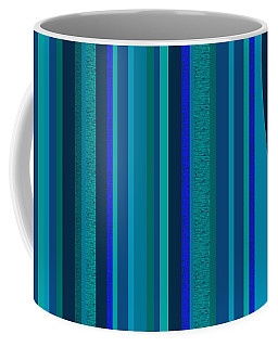 Random Stripes - Electric Blue Coffee Mug