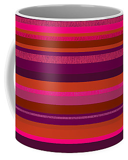 Coffee Mug featuring the digital art Random Stripes - Hot Pink And Rusty Orange by Val Arie