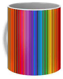 Coffee Mug featuring the digital art Random Stripes - Rainbow Stripe by Val Arie