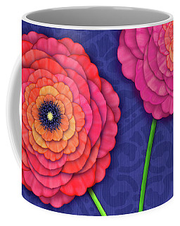 Ranunculus In Blue And White Vase Coffee Mug
