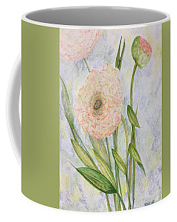 Coffee Mug featuring the drawing Ranunculus by Norma Duch