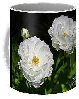 Ranunculus White Flowers Coffee Mug