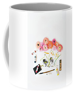 Ranunculus With First Watercolor Coffee Mug