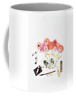 Ranunculus With First Watercolor Coffee Mug