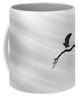 Coffee Mug featuring the photograph Raptor Silhouette by Joe Bonita
