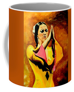 Raquel Heredia - Flamenco Dancer Coffee Mug by Manuel Sanchez
