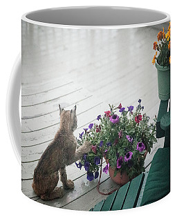 Swat The Petunias Coffee Mug